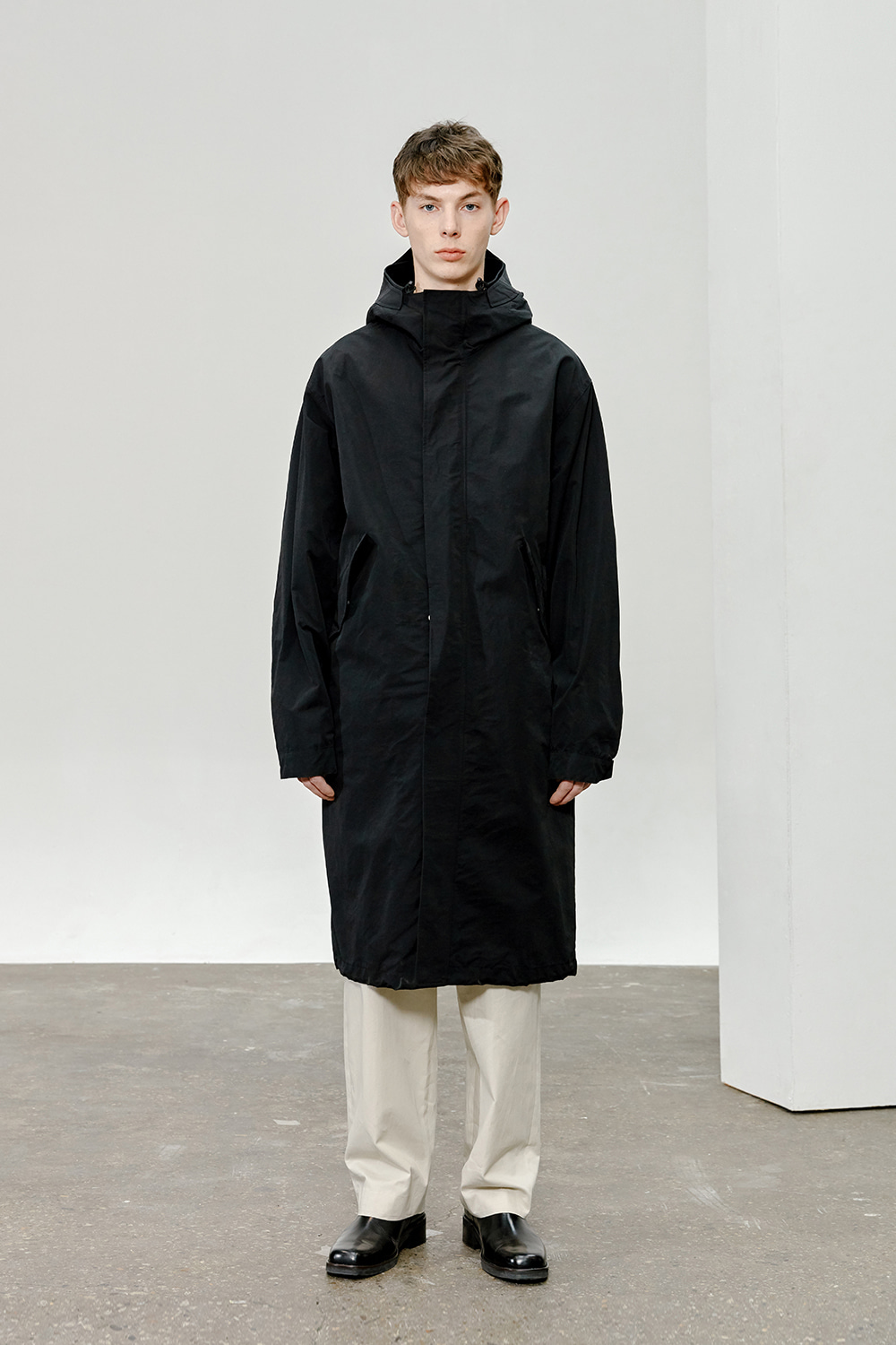 Hooded Parka Men [Black]