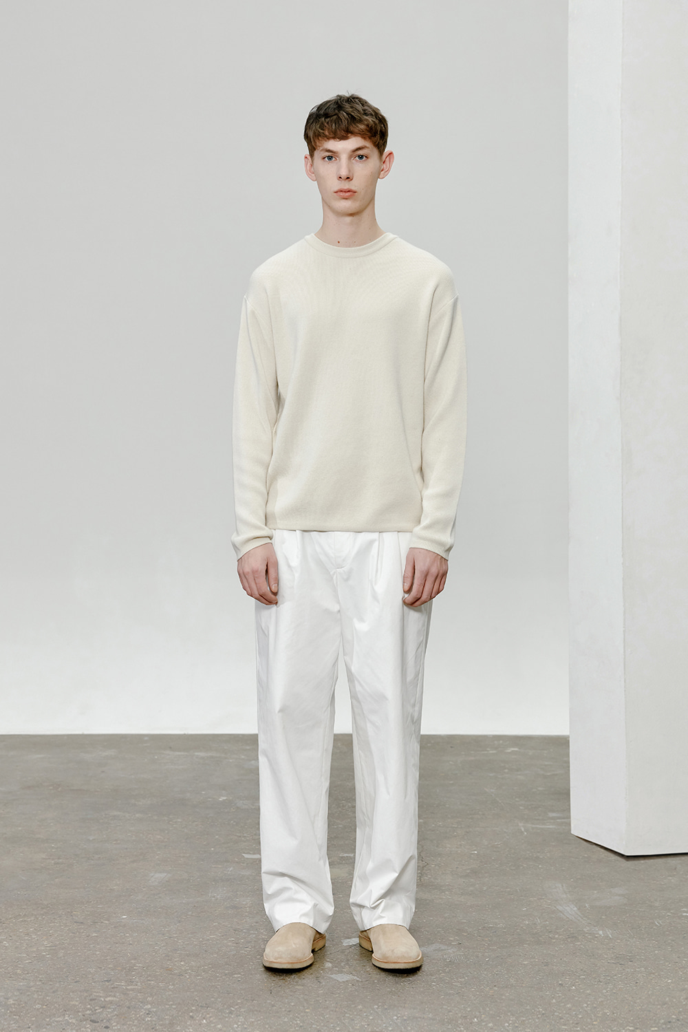Cashmere Knit Men [Cream]