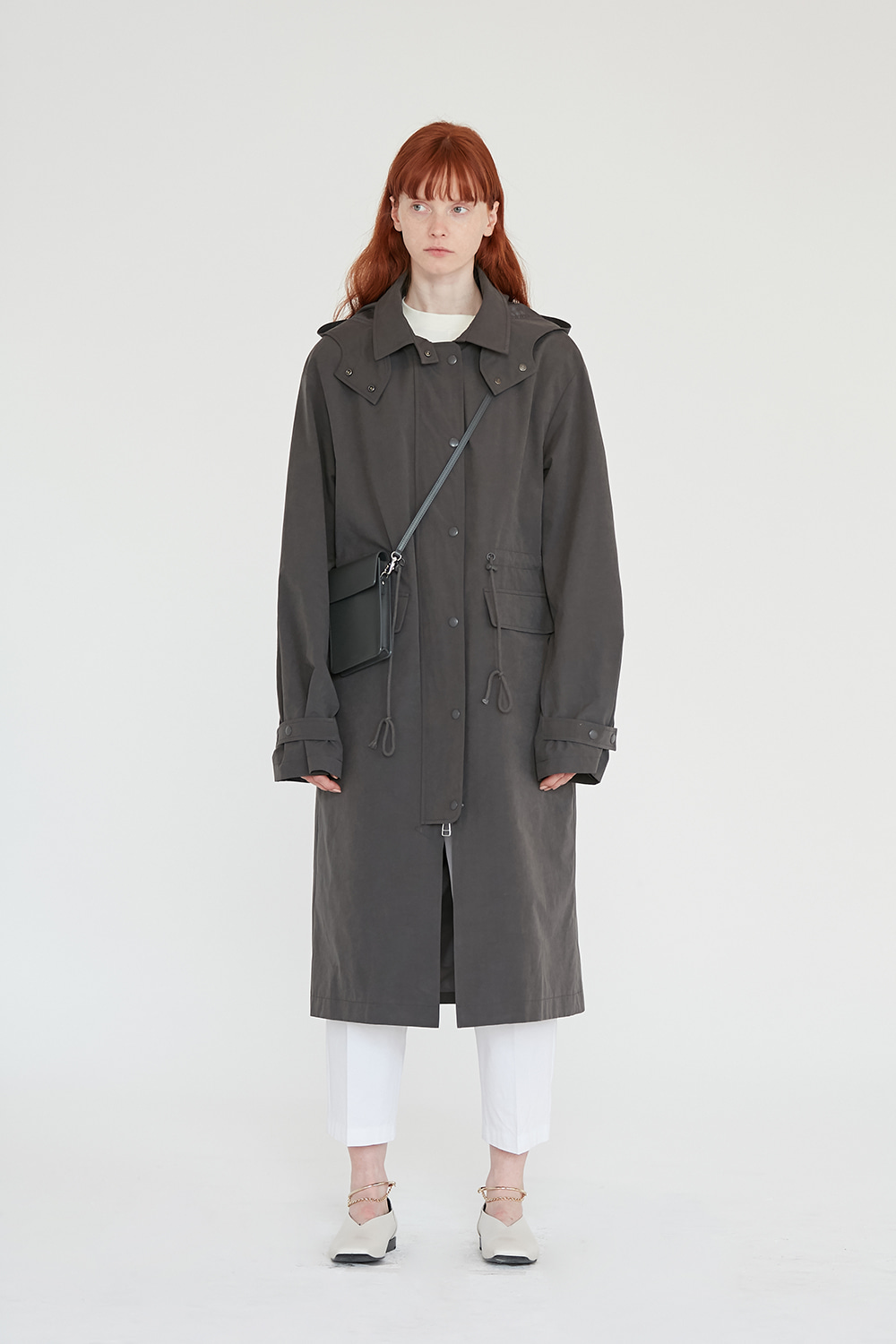 Hooded Coat Women [Charcoal Grey]