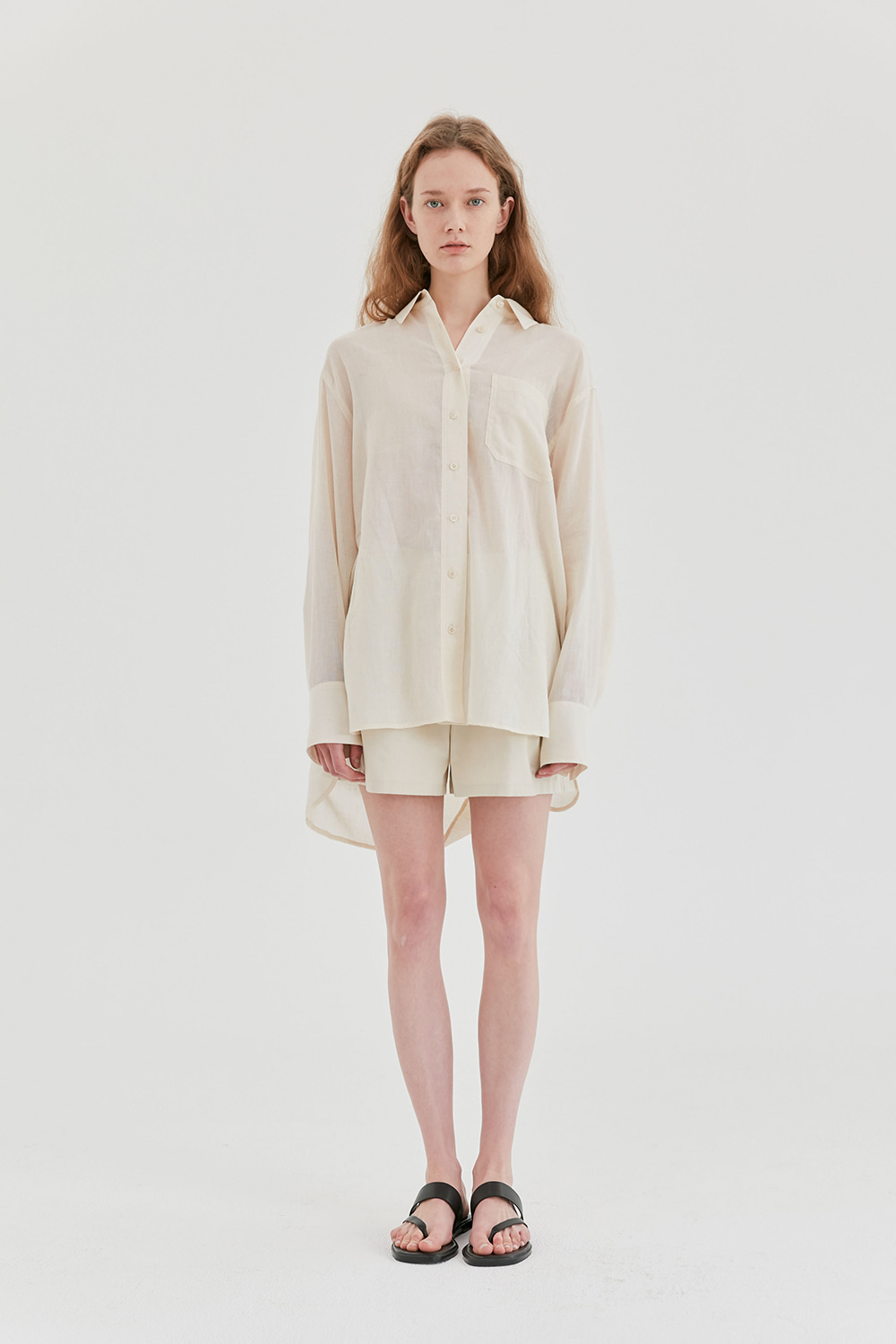 Oversized Summer Shirts Women [Ivory]