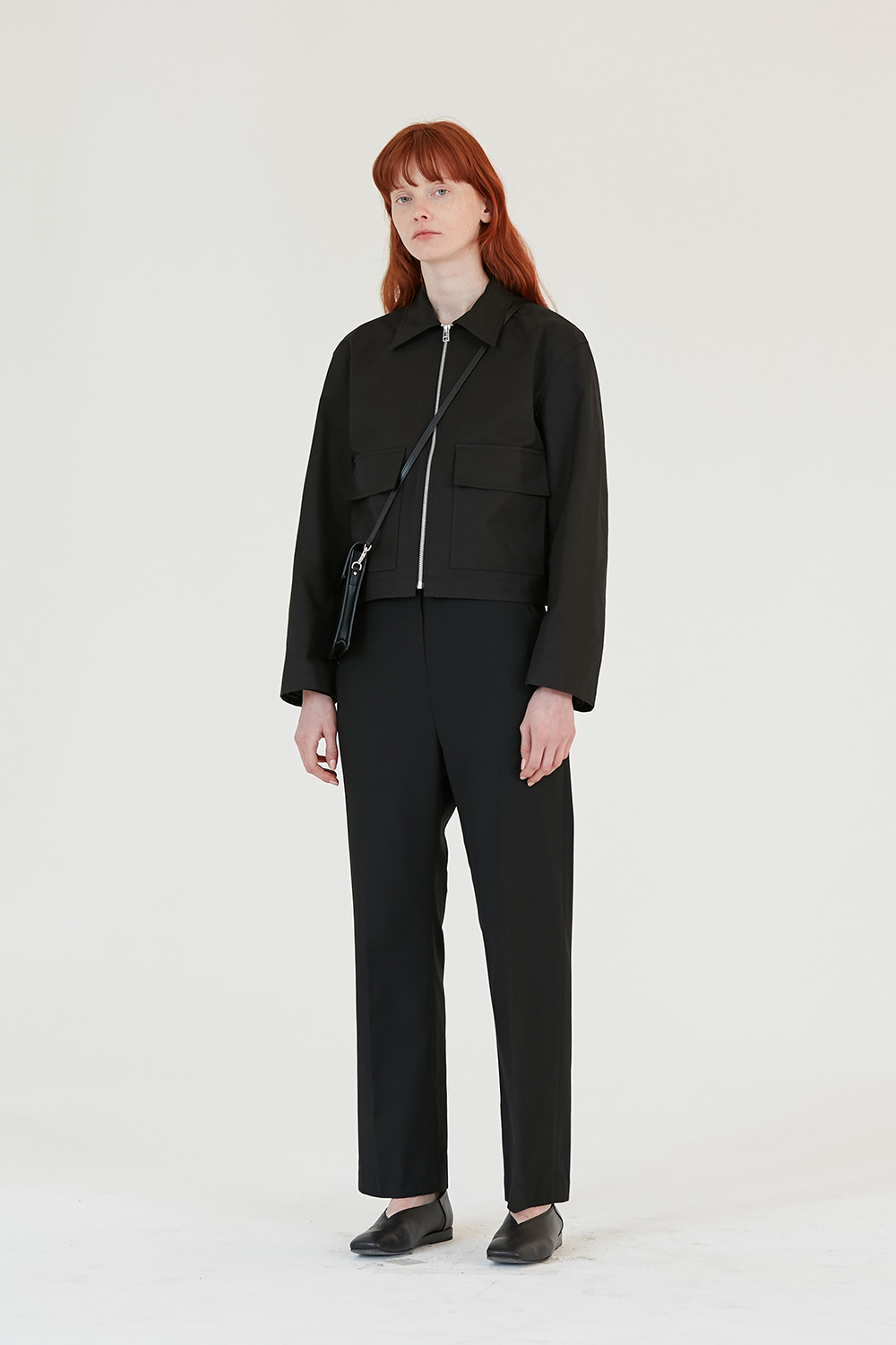 Two Pocket Crop Jacket Women [Black]