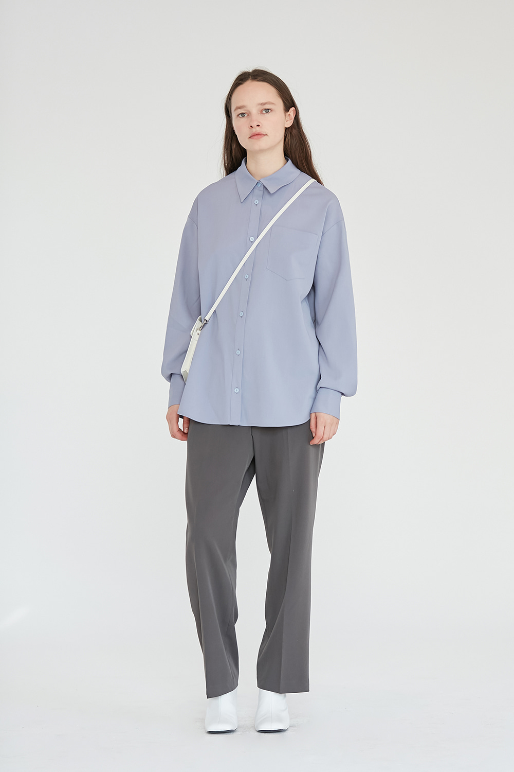 One Pocket Shirts Women [Pastel Blue]