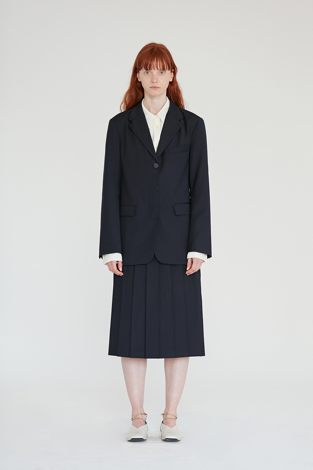Single Blazer Women [Navy]