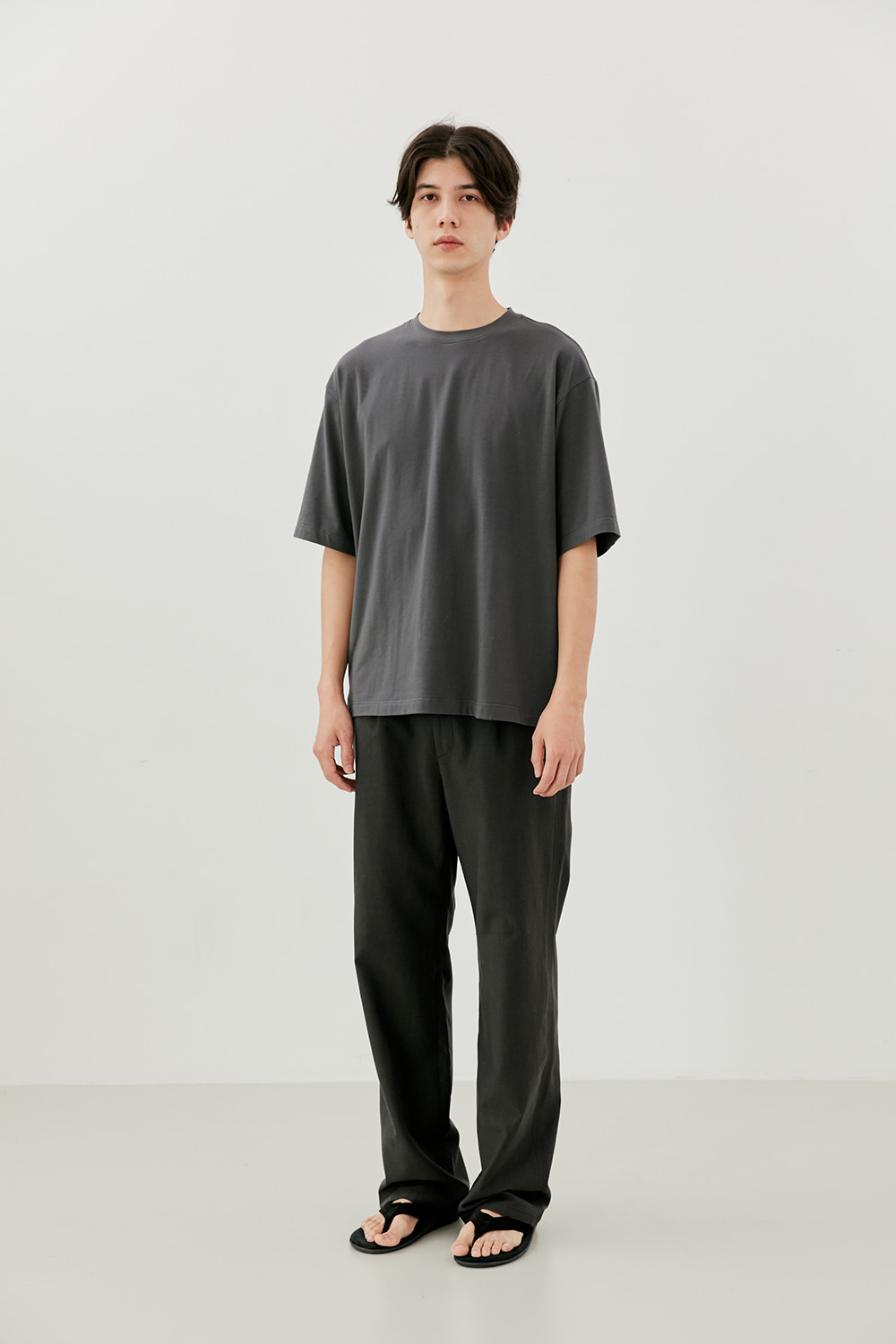 Semi Over Fit Tee Men [Charcoal]