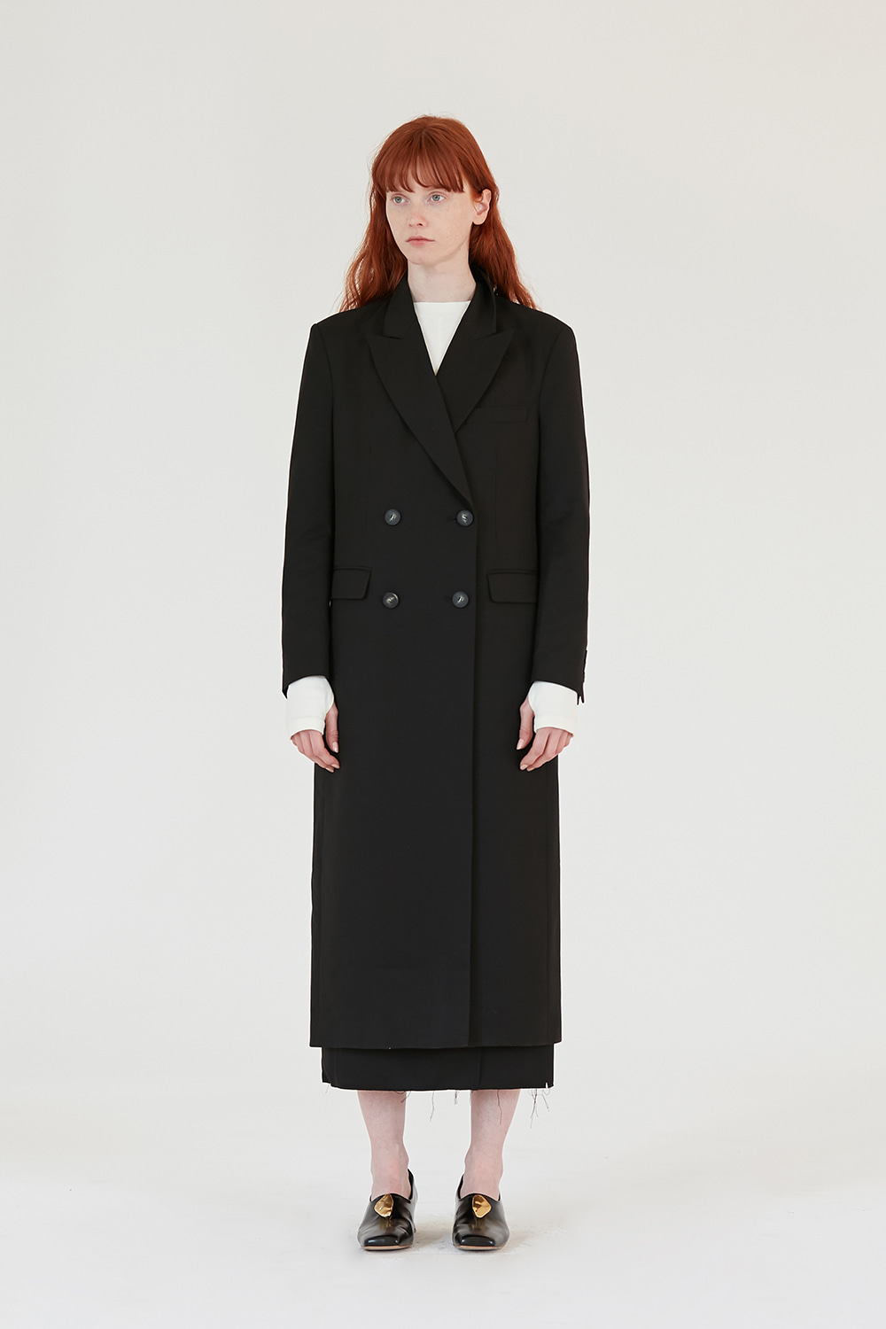 Double Long Coat Women [Black]
