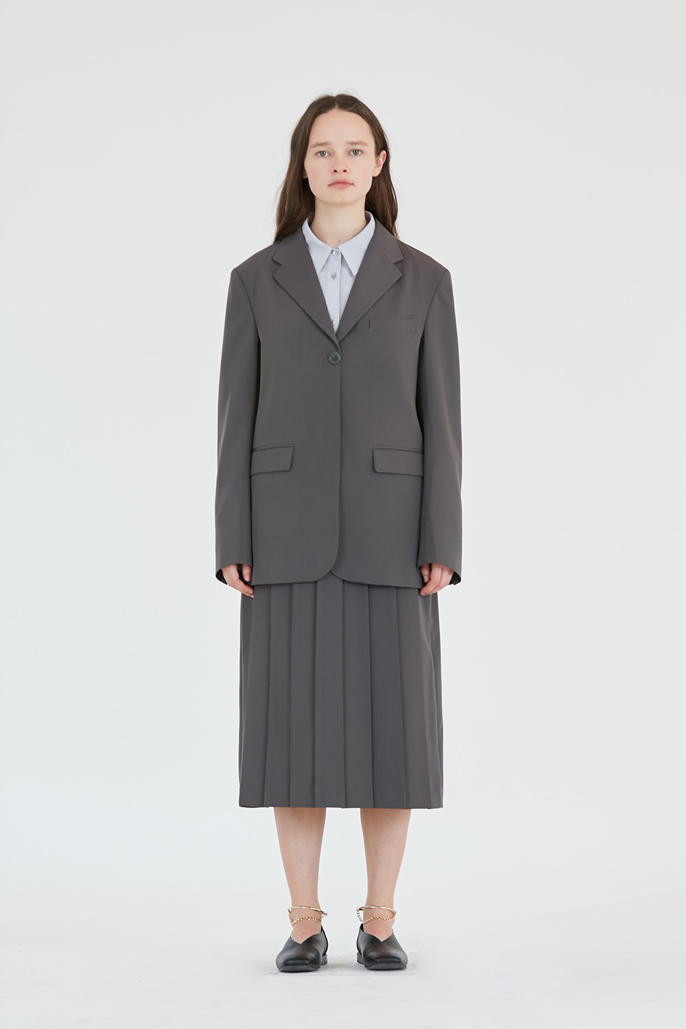 Single Blazer Women [Grey]