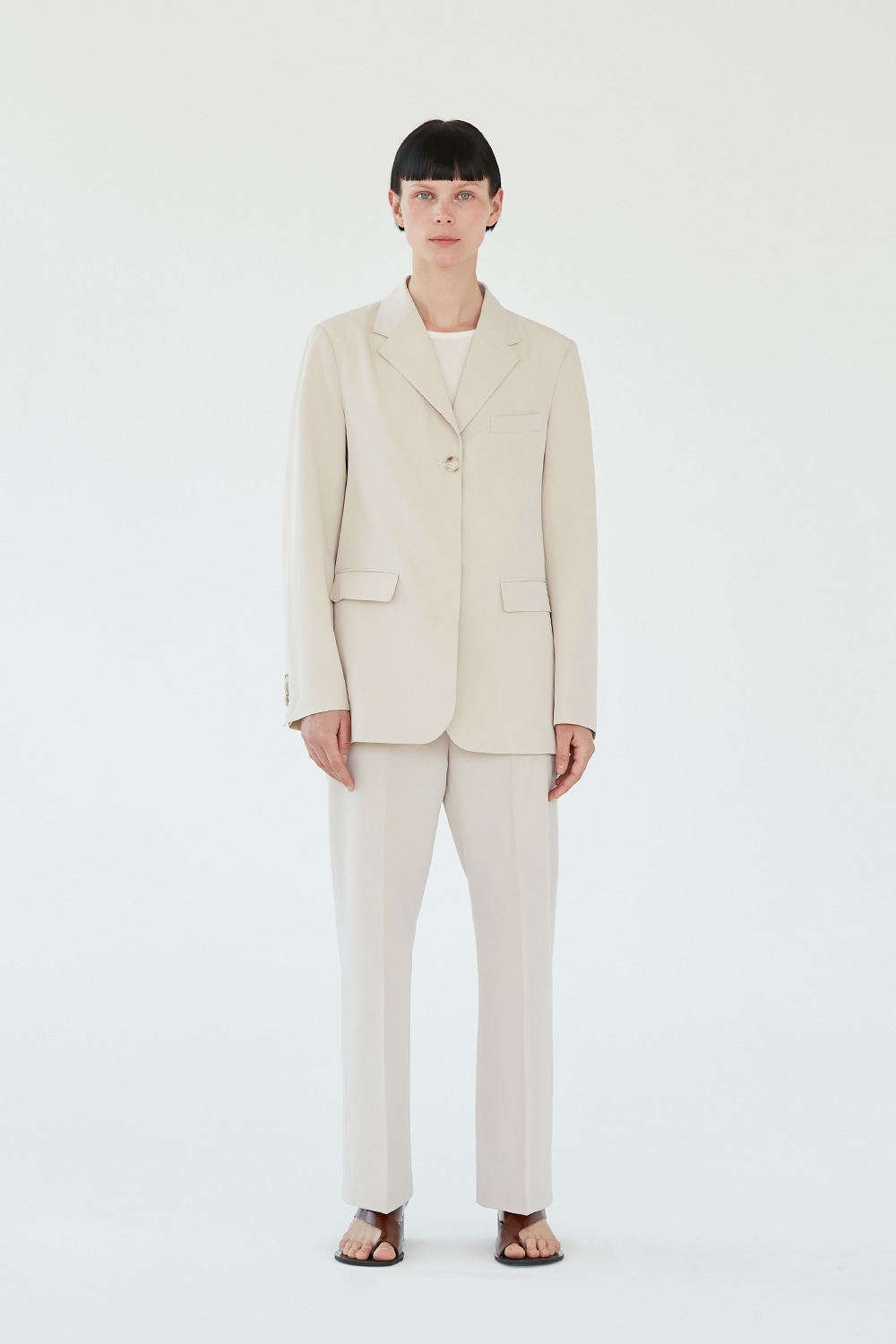 Single Blazer Women [Ivory]