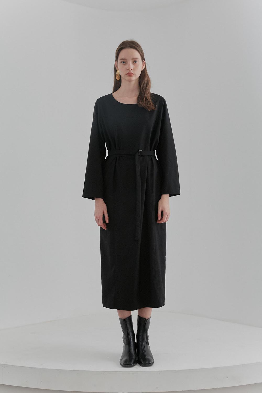 Belted Dress Women [Black]