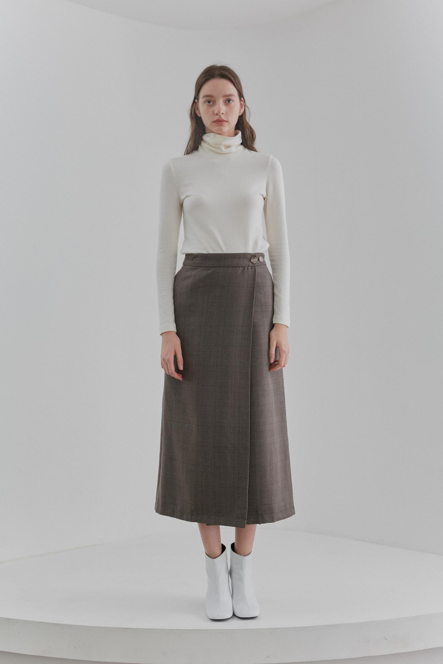 Long Wrap Skirts Women [Brown]