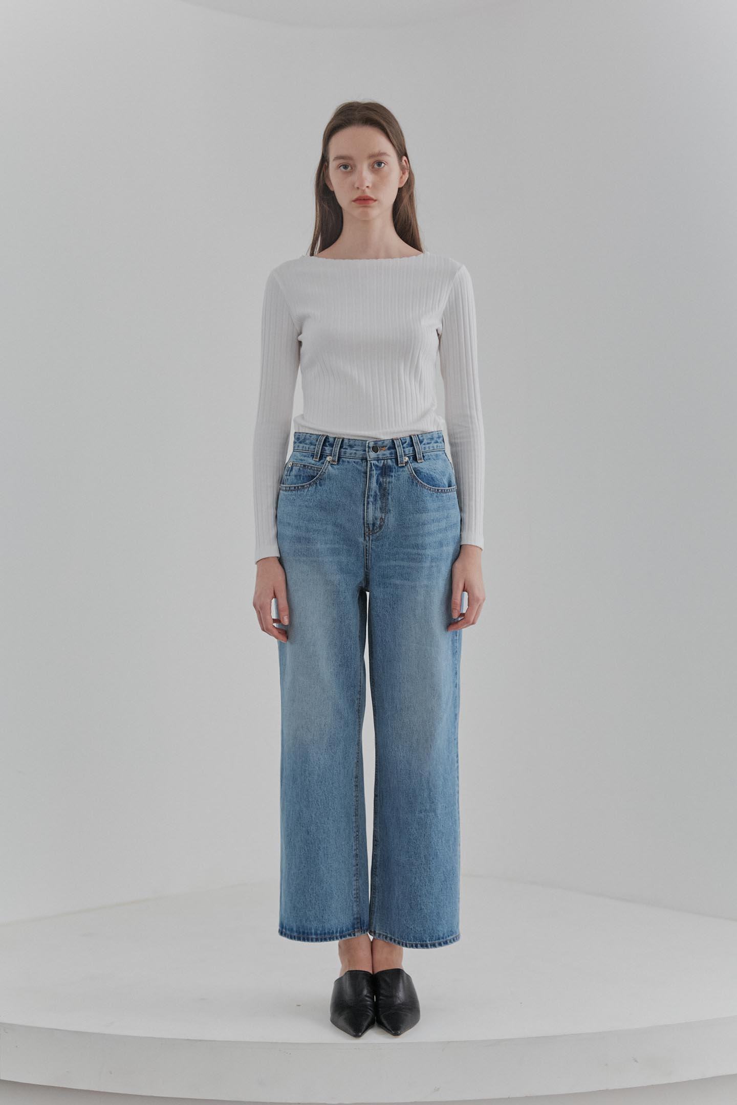 Wide Leg Denim Women [Blue]
