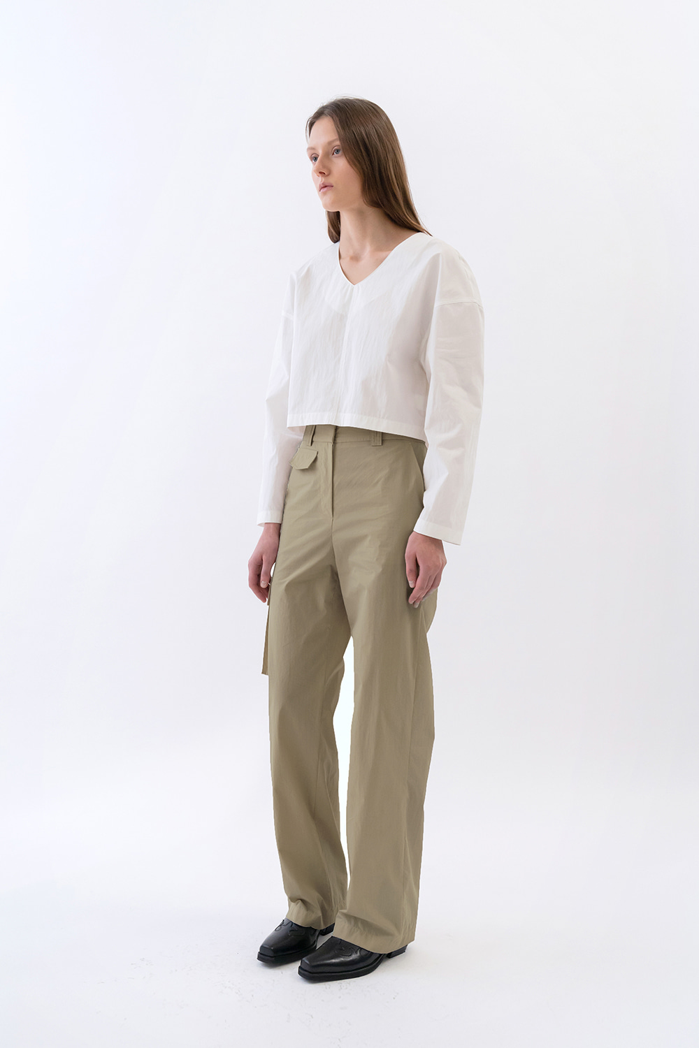 One Pocket Cargo Pants Women [Dark Beige]