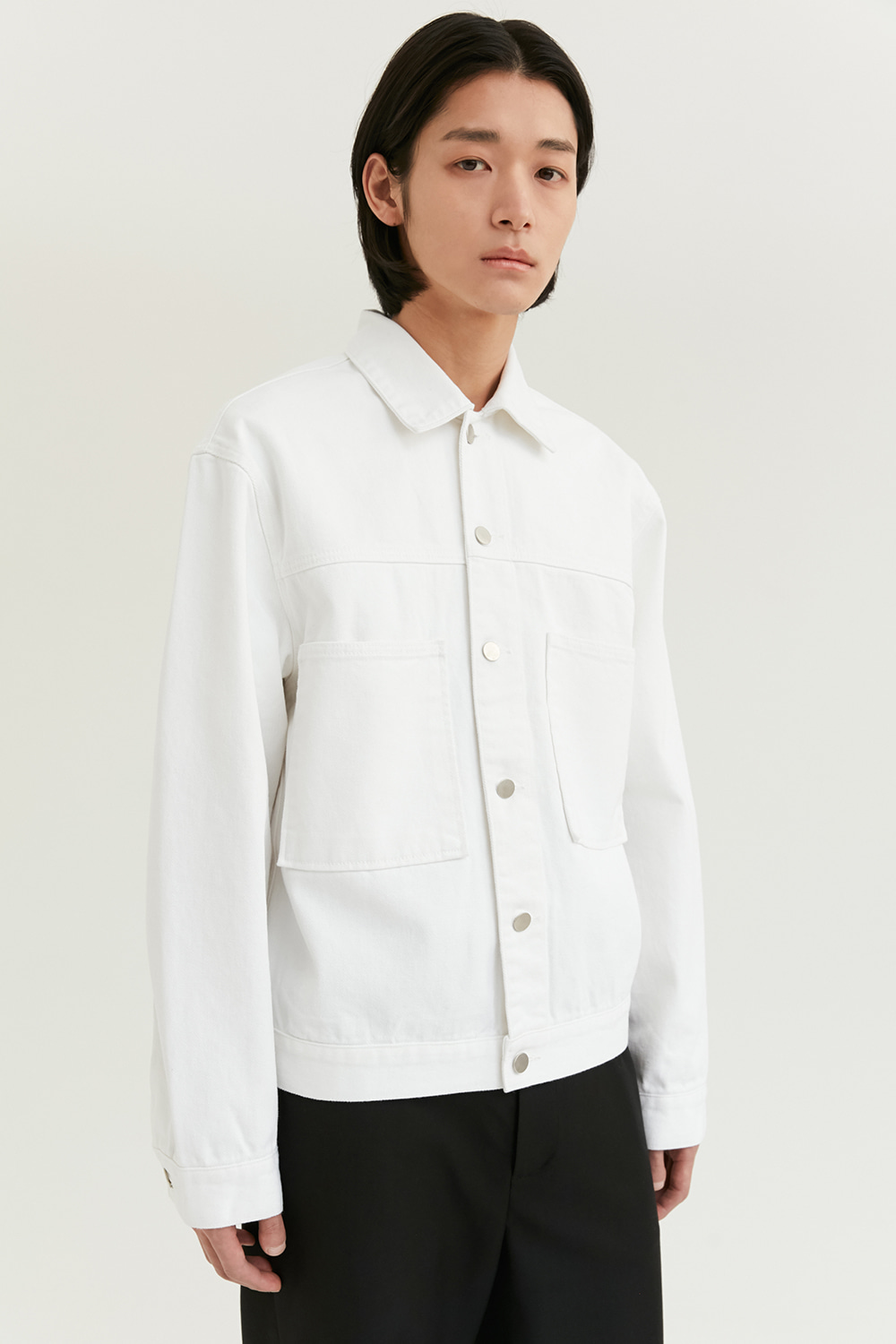 Two Pocket Denim Jacket [Ivory] -60%