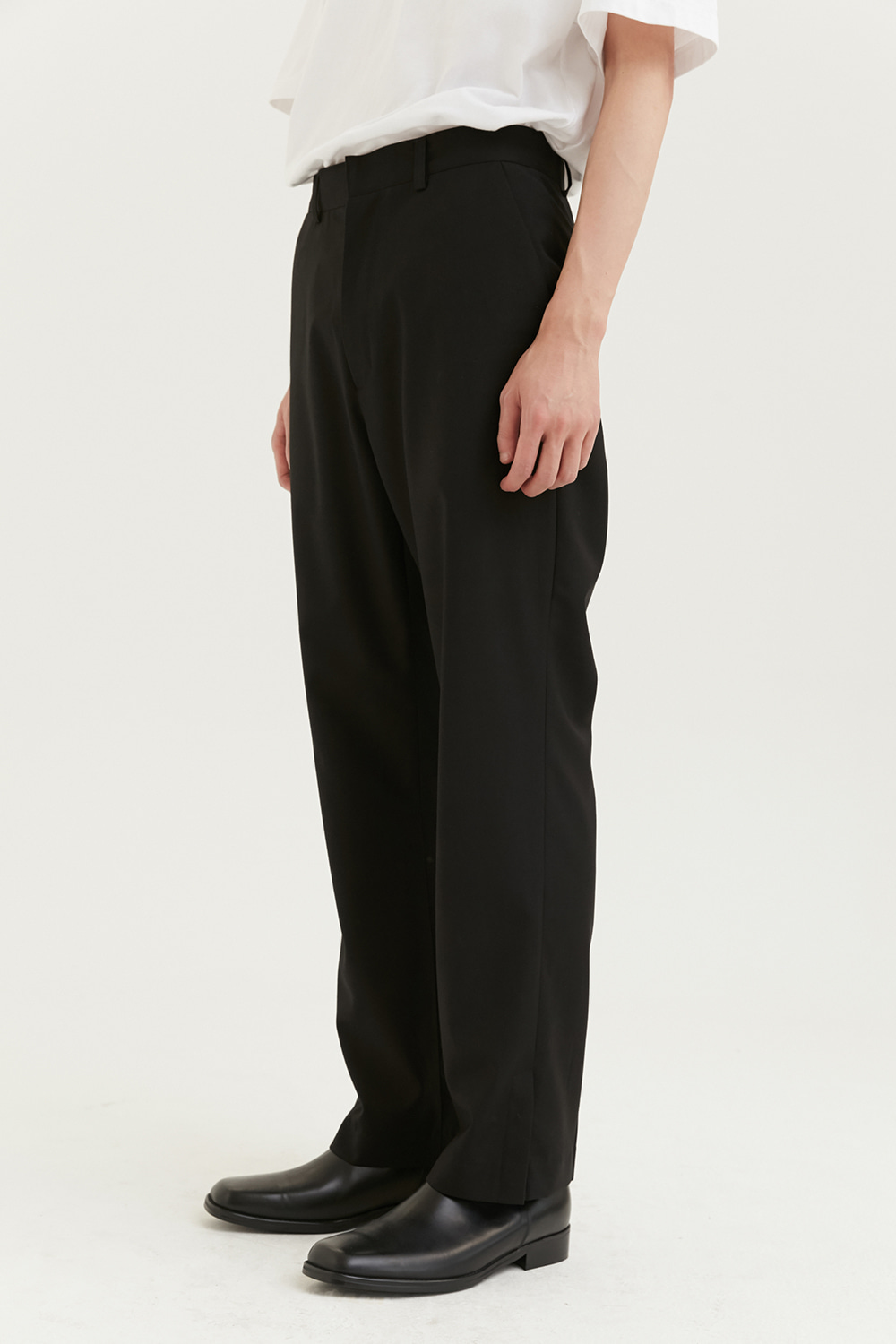 Side Snap Slacks Men [Black]