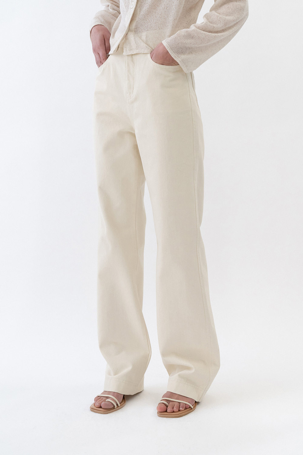 Dusty Color Denim Women [Cream]