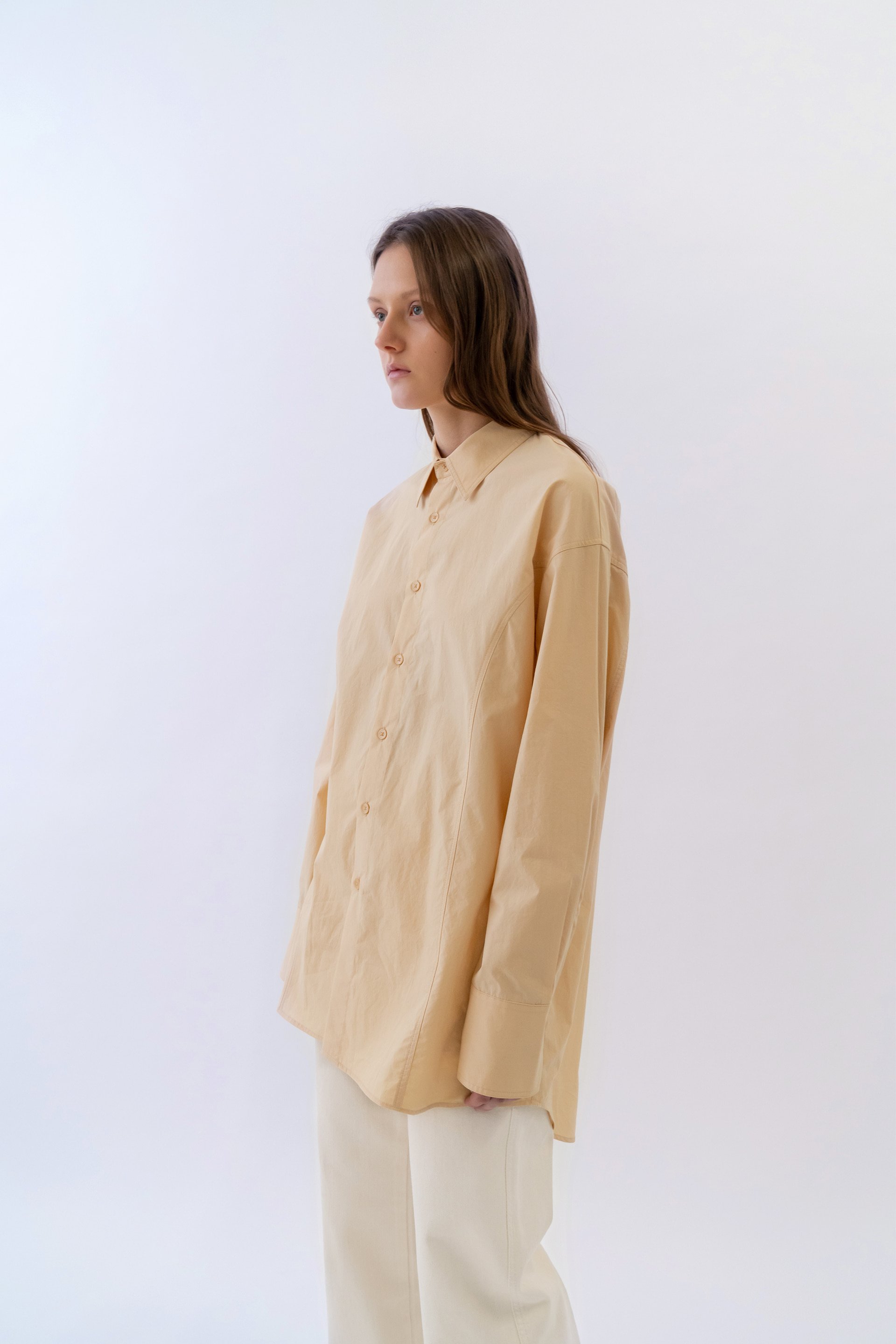 Long Box Shirts Women [Light Orange]
