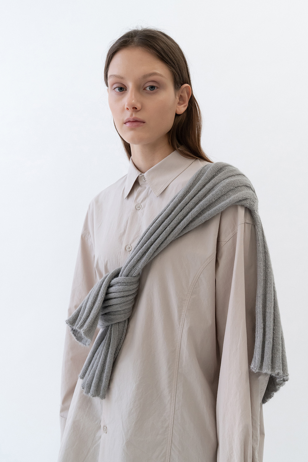Long Box Shirts Women [Light Gray]