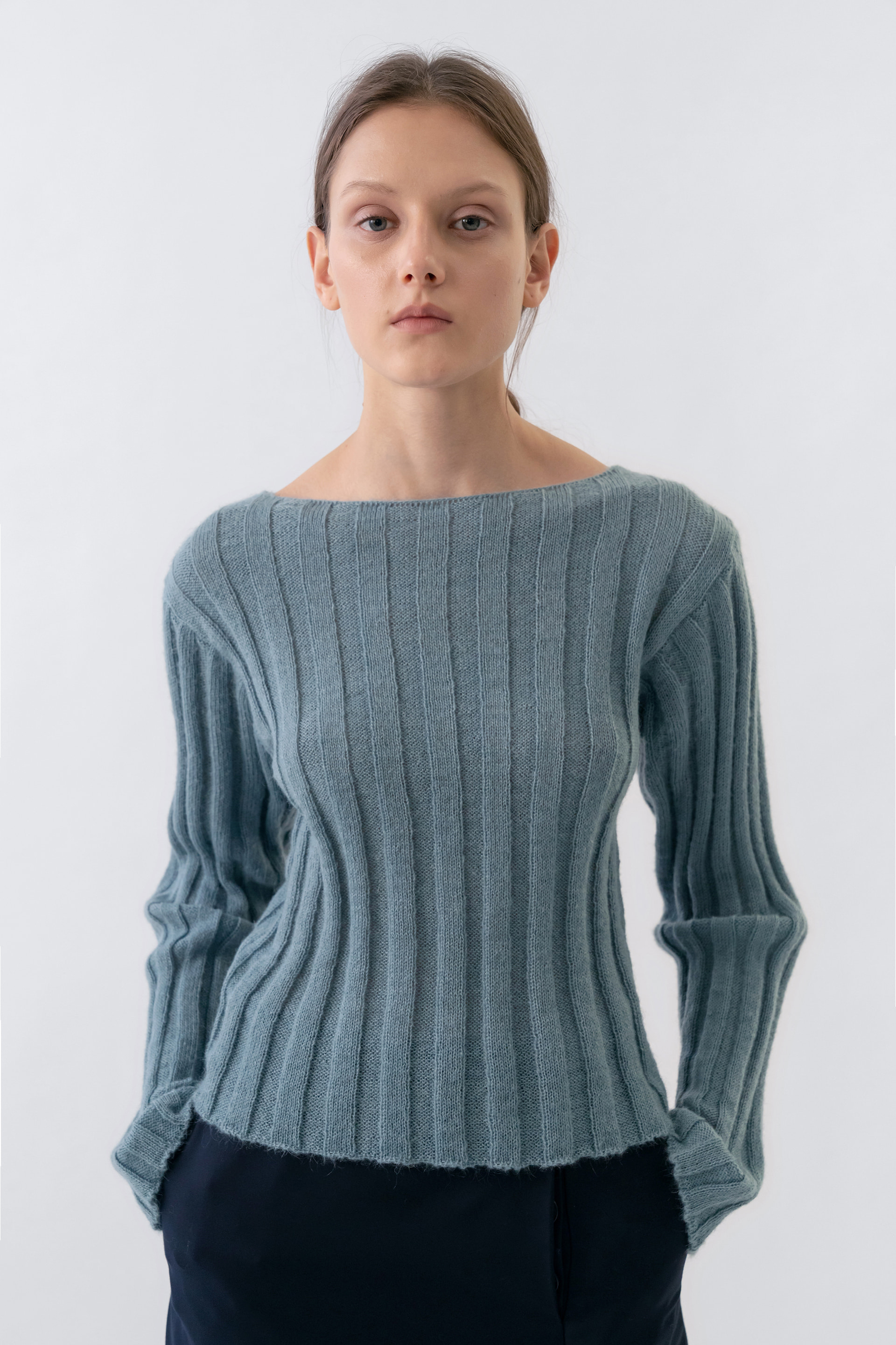 Kid Mohair Fitted Knit Women [Mint]