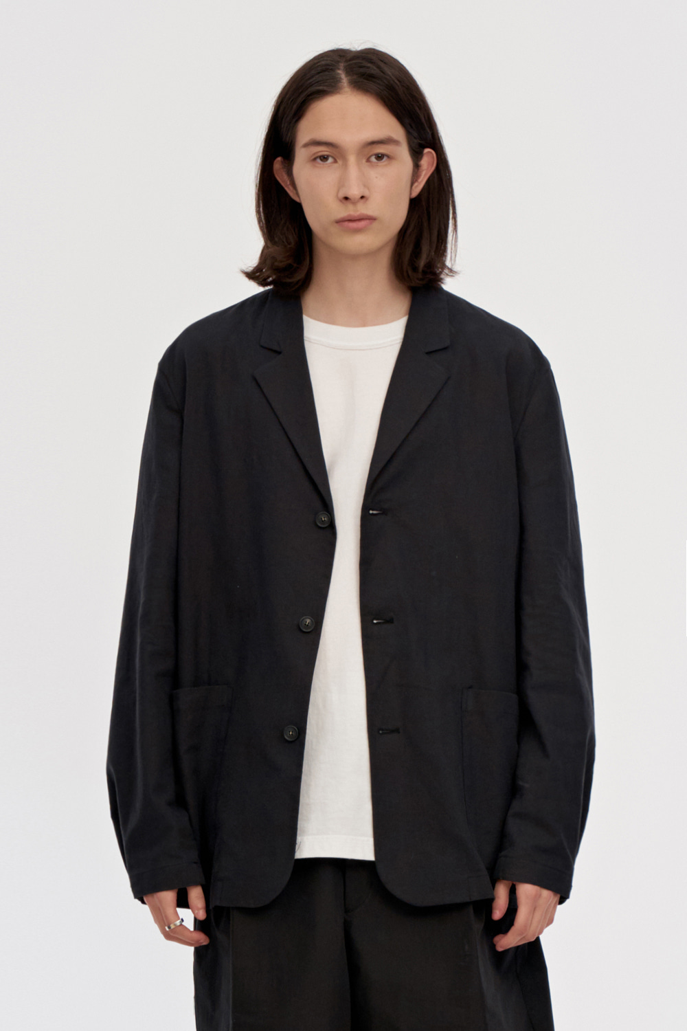 Linen Jacket Men [Black]
