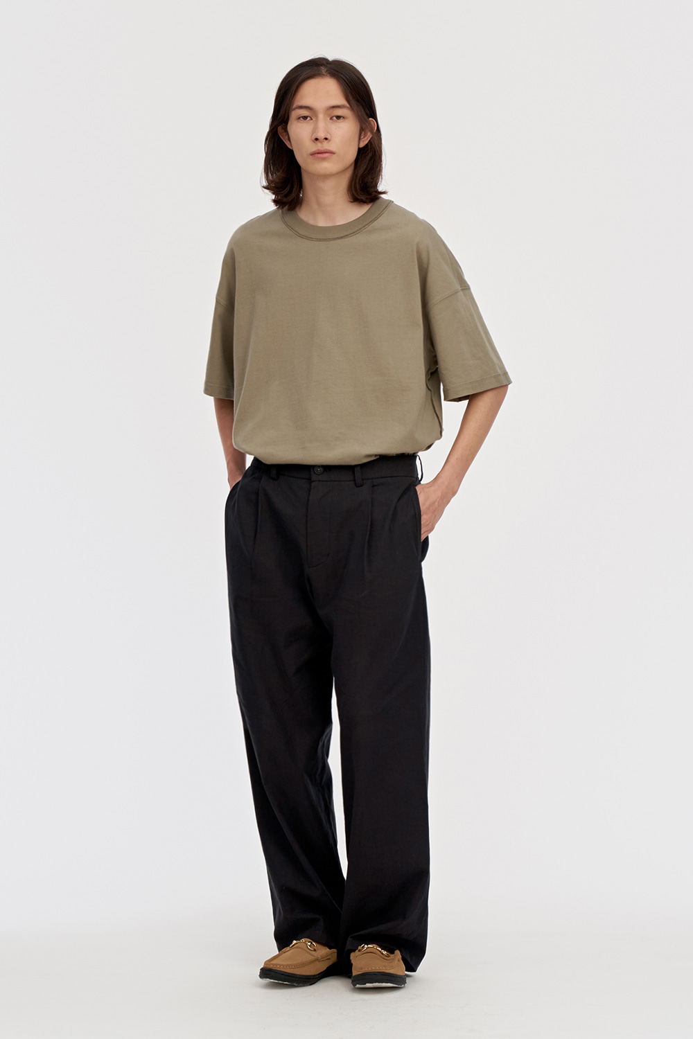 Linen Pants Men [Black]