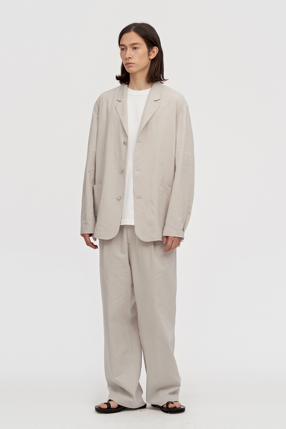 Linen Pants Men [Light Beige]