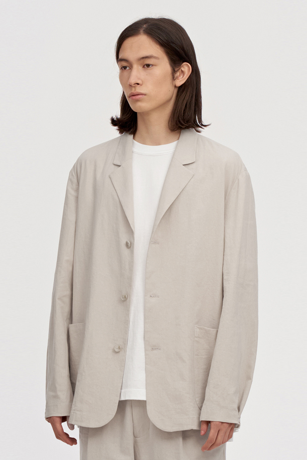 Linen Jacket Men [Light Beige]