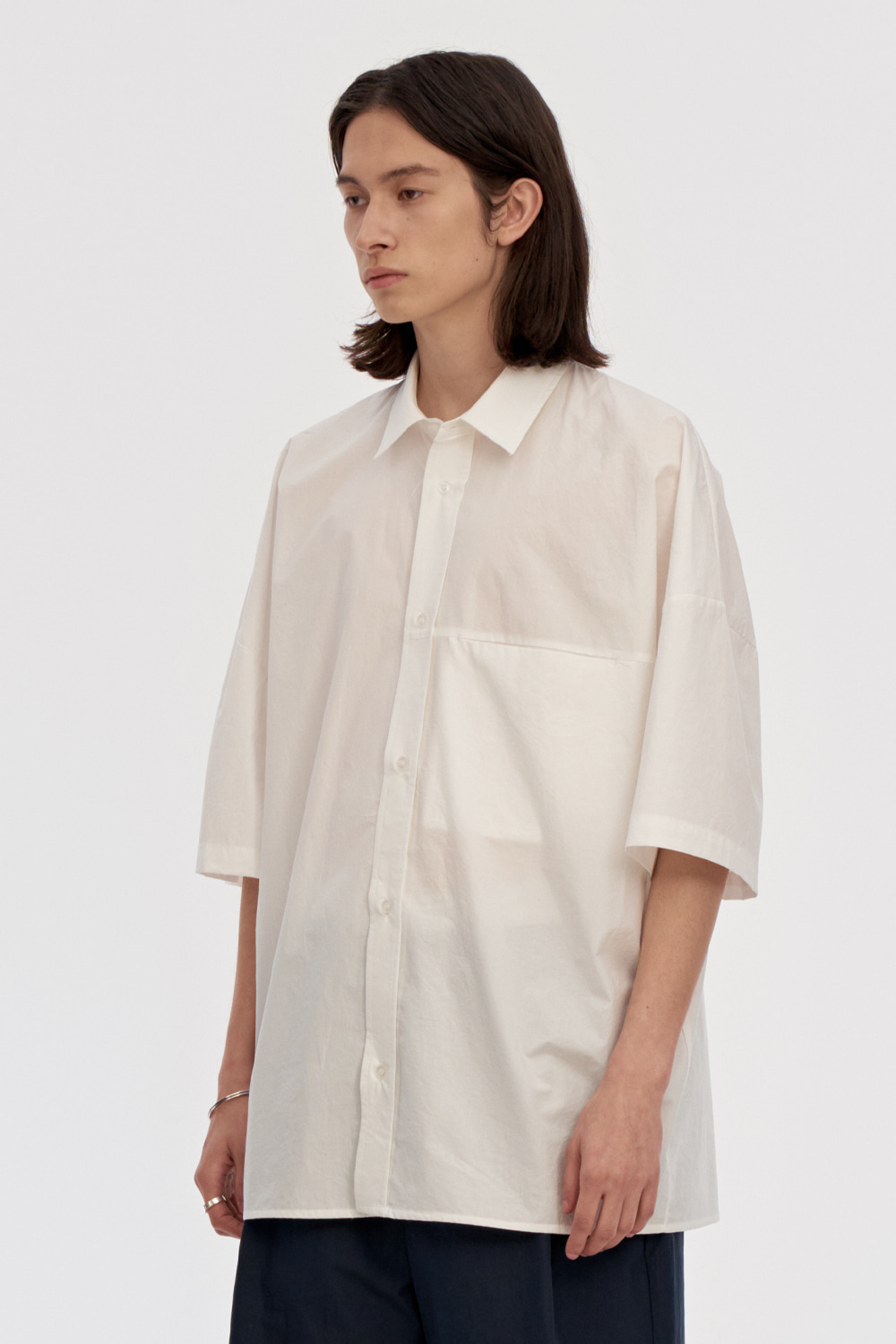 Oversized Box Shirts Men [White]