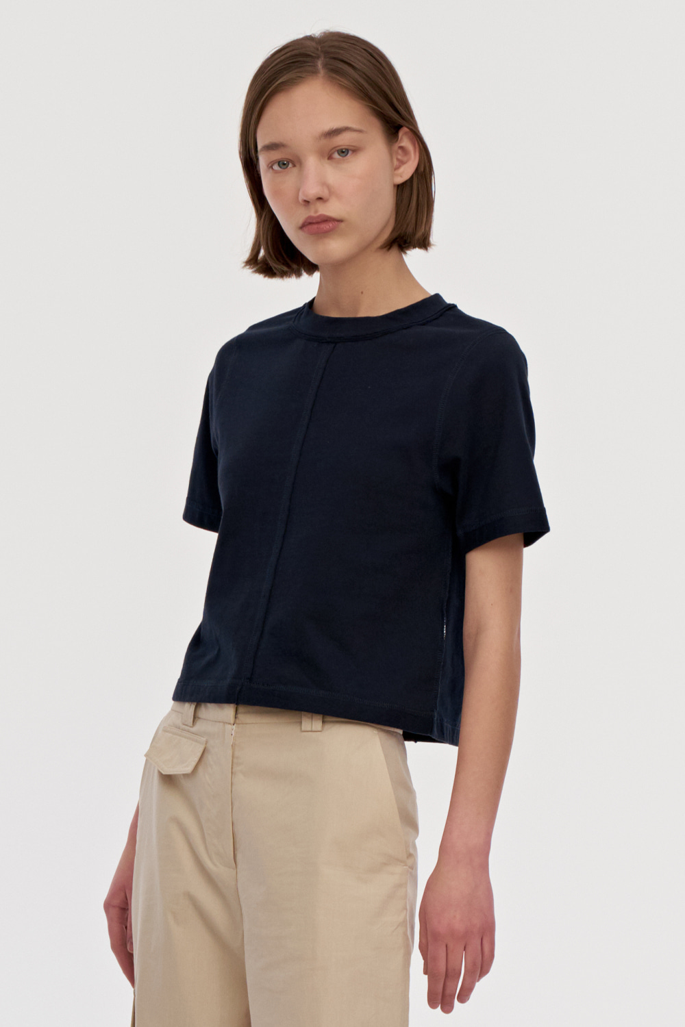 Damage Jersey Top Women [Navy]