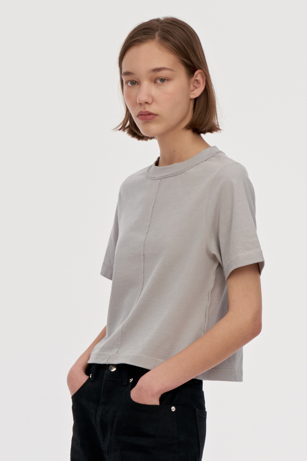 Damage Jersey Top Women [Gray]