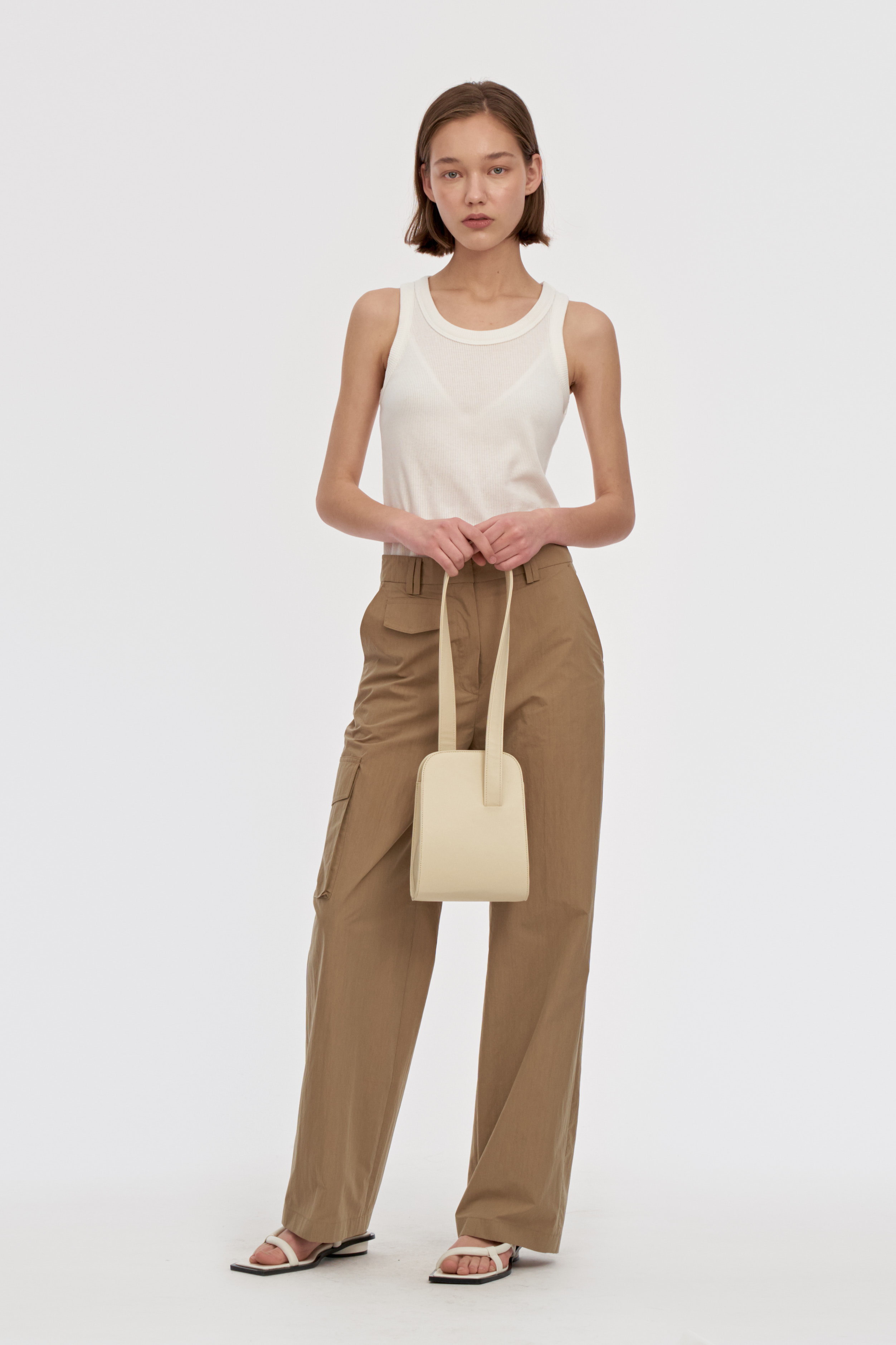 Mini Curved Bags Women [Cream]