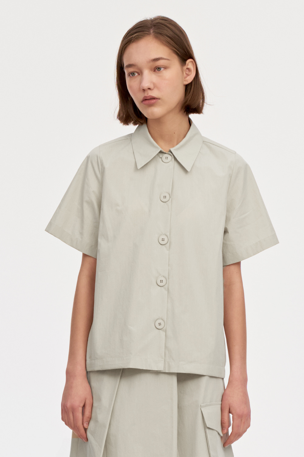 Over Shorts Shirts Women [Cream]