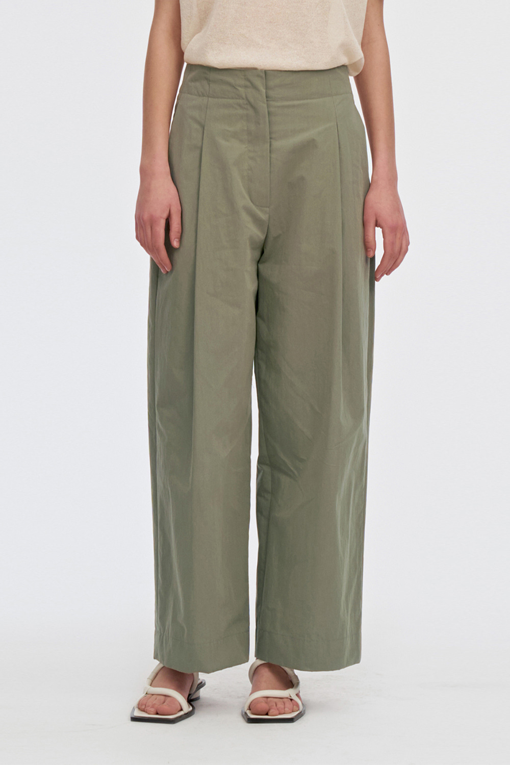 Relaxed Paperback Pants Women [Khaki]