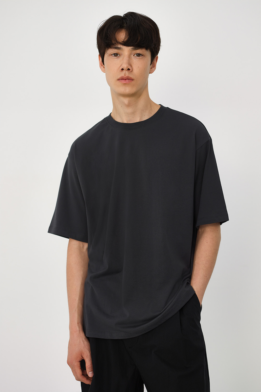 Premium Supima 100 Tee Men [Charcoal Gray]