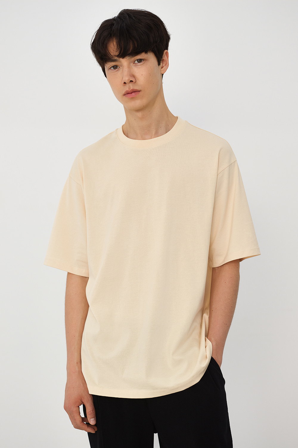 Premium Supima 100 Tee Men [Light Beige]