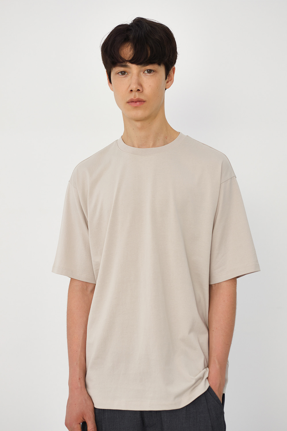 Premium Supima 100 Tee Men [Light Grey]