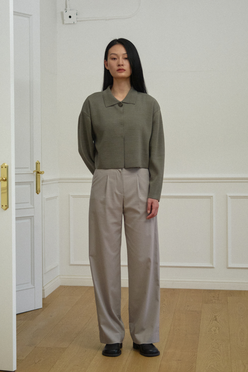 Over Pants Women JA [Sand Gray] -10%