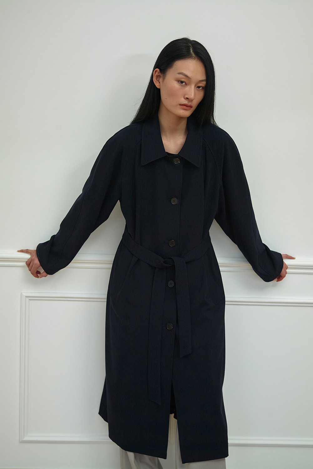 Over Trench Coat Women JA [Dark Navy] -10%