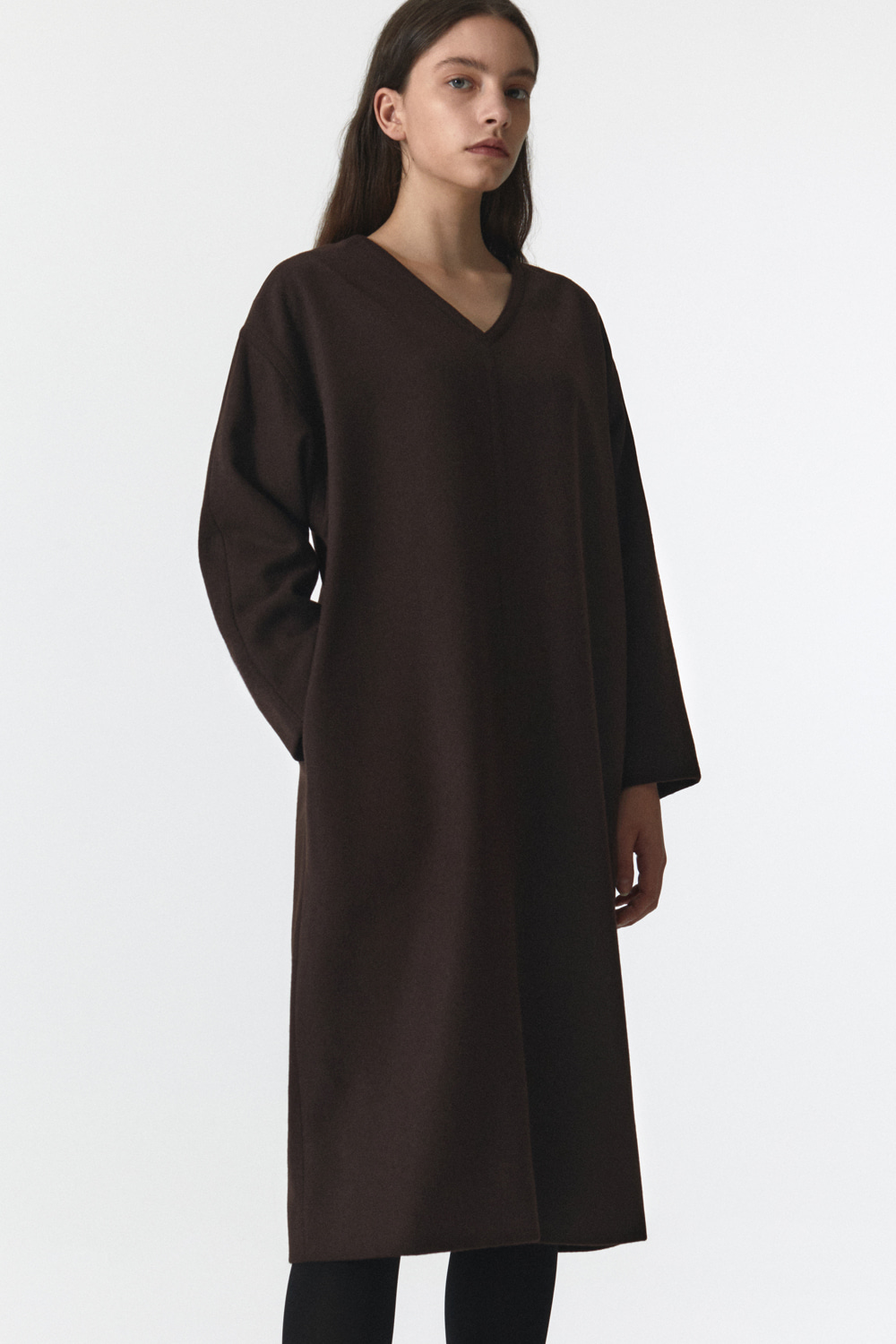 Wool Over Dress Women JA [Brown] -10%