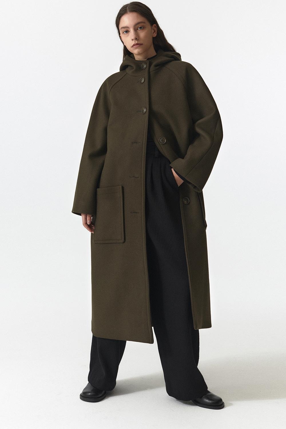 Hooded Coat Women JA [Warm Khaki]