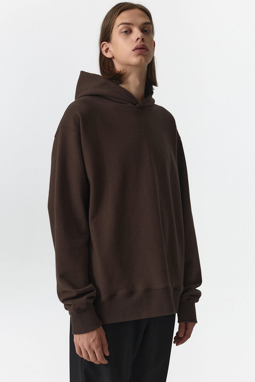 Side Pocket Hoodie Men JA [Brown]