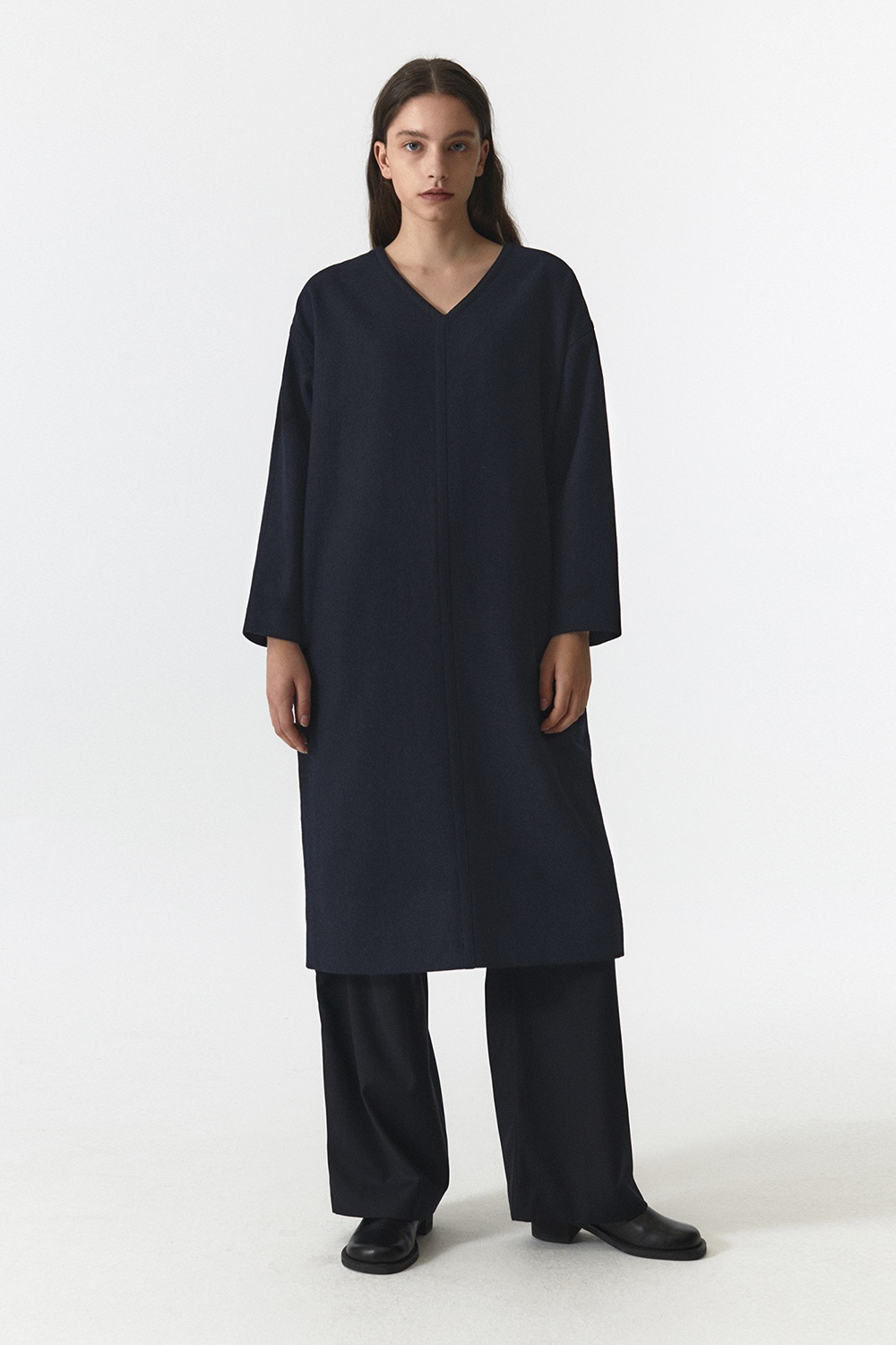 Wool Over Dress Women JA [Navy] -10%