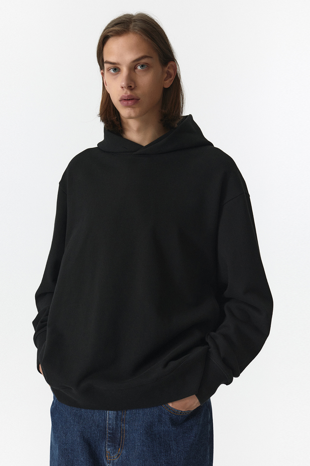 Side Pocket Hoodie Men JA [Black]