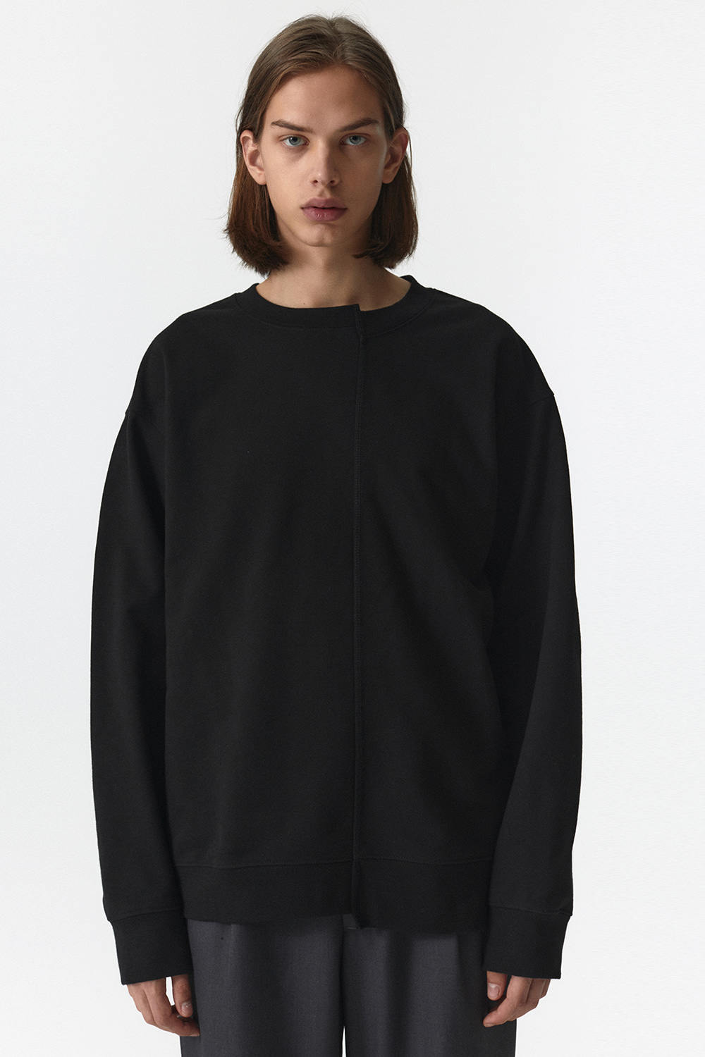 Unbalance Crewneck Men JA [Black]